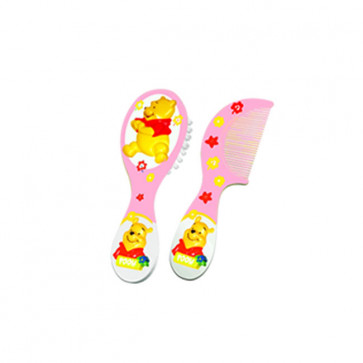 Conjunto Escova e Pente 3D Disney Pooh